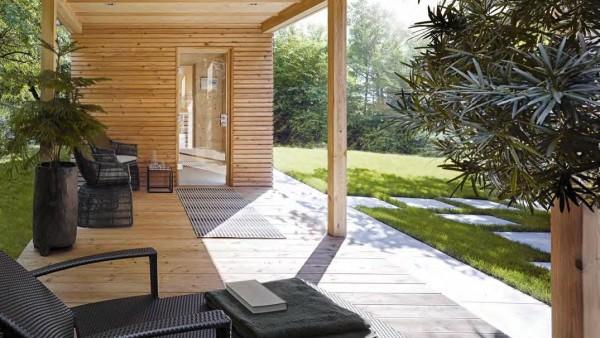 Sauna zewnętrzna TALO® z tarasem-1